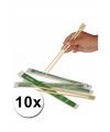 Sushi eetstokjes 10x 2 stuks