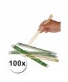 Sushi eetstokjes 100x 2 stuks