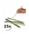 Sushi eetstokjes 25x 2 stuks