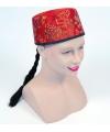 Aziatische hoedjes rood